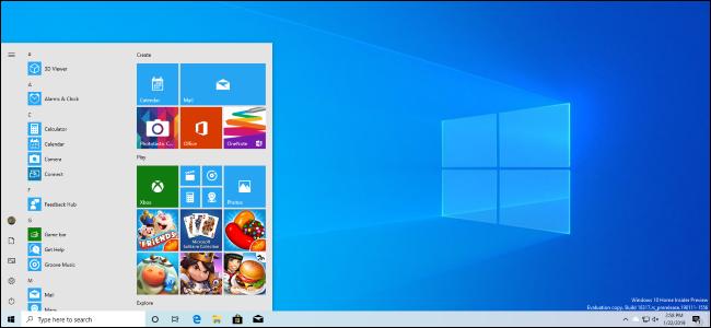 Windows 10 versione 1903